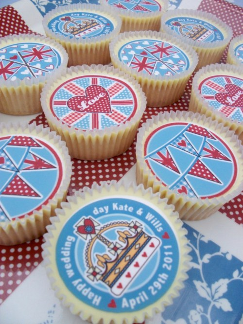 Royal Wedding Cupcake Toppers
