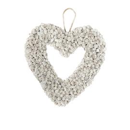 snowy heart wreath