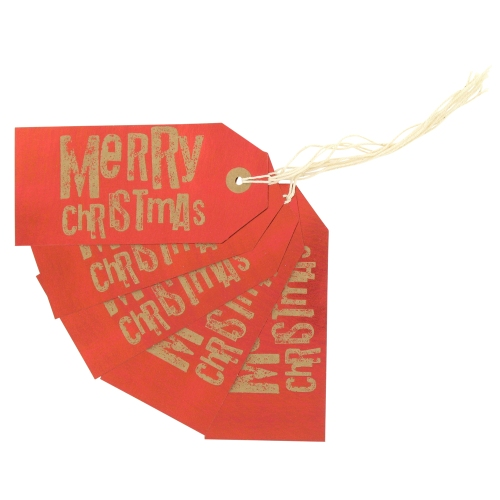 red gift tags Paperchase