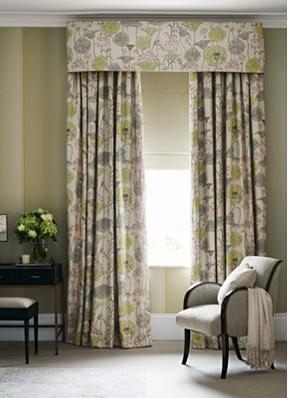 Zoffany Lotus flower curtains