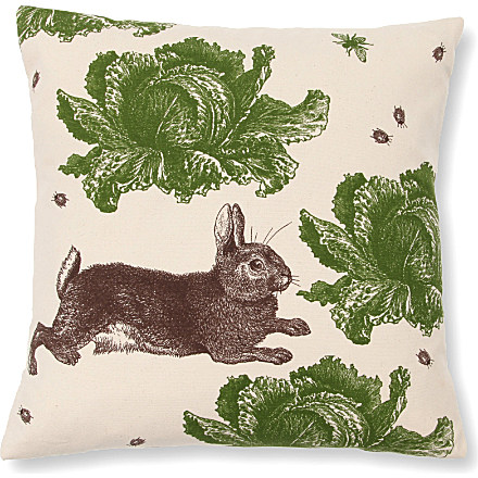 rabbit & cabbage cushion