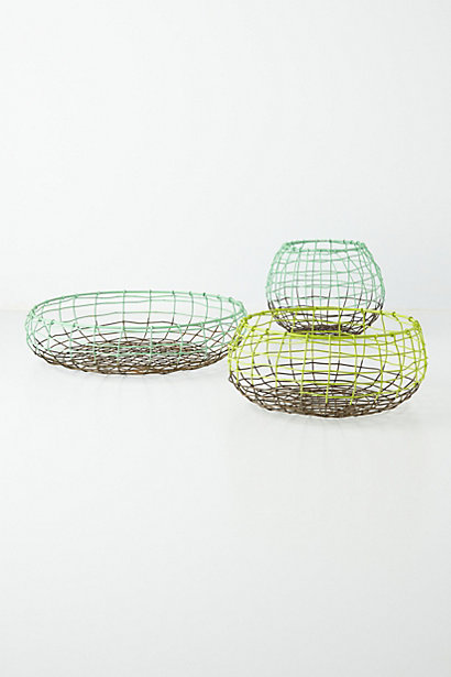 wire basket trio anthropologie