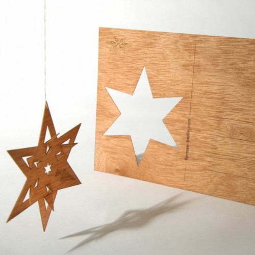 folding-star-cedar-wood-motif-postcard