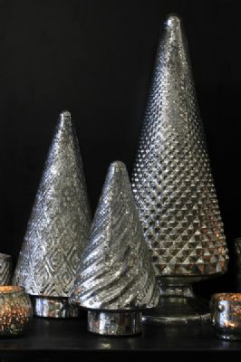 silver glass christmas trees