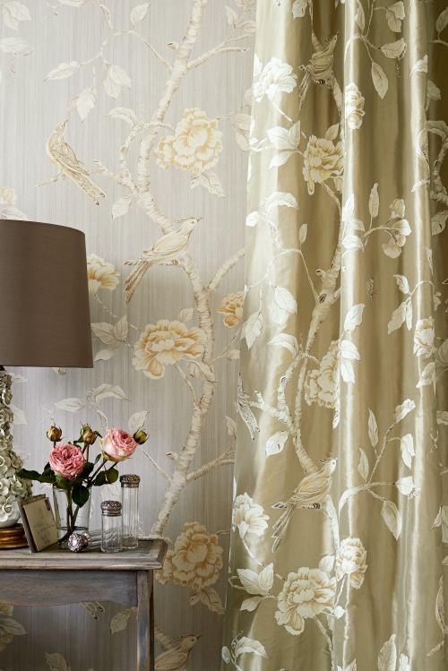 Woodville silk Fabric and WP detail with lamp_lr