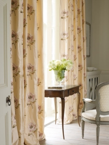 Colefax Louise silk curtains