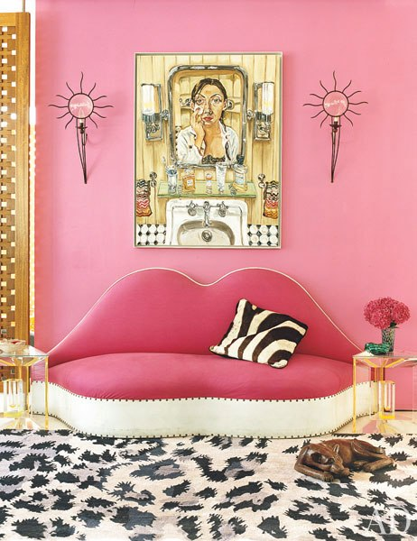 living area pink
