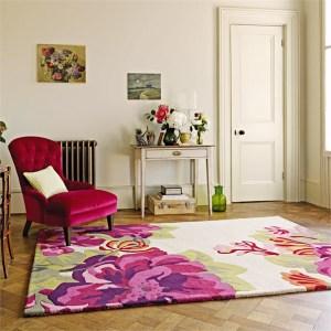 sanderson midsummer rose rug