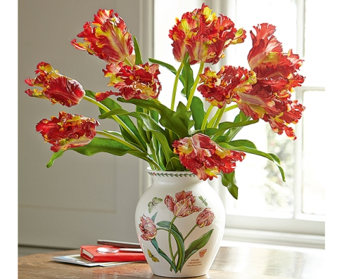 Bloom tulips in Portmeirion vase