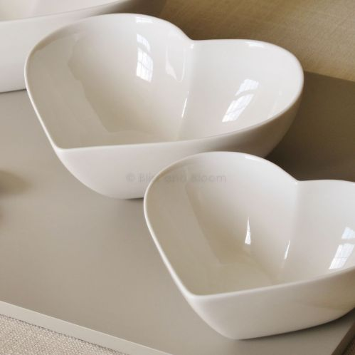 Bliss and Bloom two heart shaped bowls