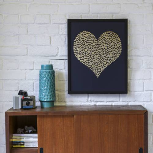 Gold framed heart by Hello Geronimo