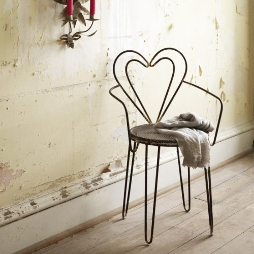 Graham and Green Heart backed chair