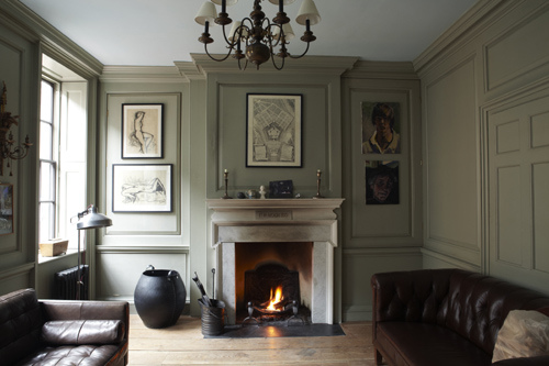 Farrow and Ball, panelled room