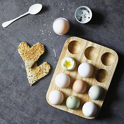 The white company wooden egg tray