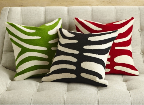 Jonathan Adler zebra cushions