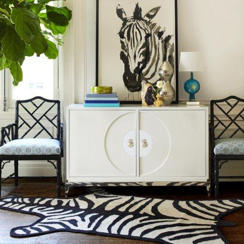 Jonathan Adler zebra rug