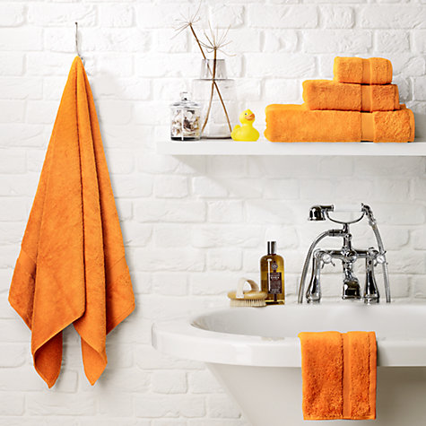 John Lewis, Egyptain Cotton Towels, Clementine