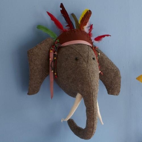 Aspace - Felt Elephant Head