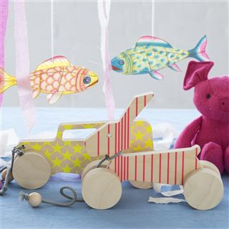 Designers Guild - Pull Along Wooden Rabbit Toy