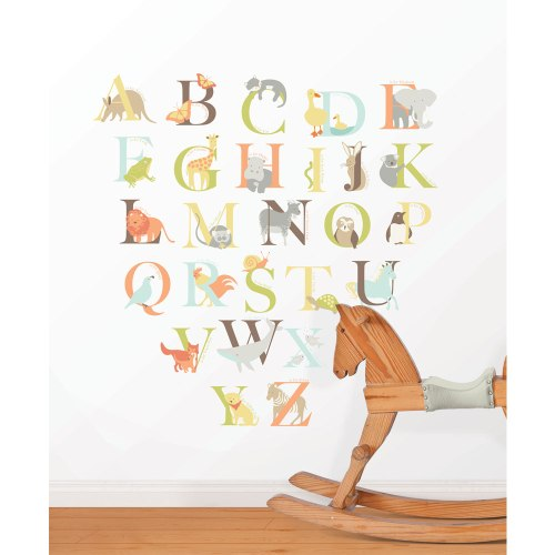 Feather and Black - Alphabet Zoo Wall Sticker