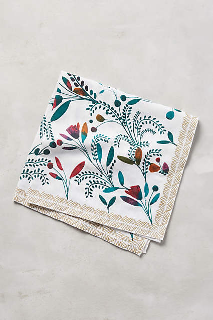 Anthropologie Harvest Foliage Napkin