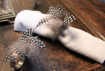 Not On The High Street Pheasant Feather Napkin Ring
