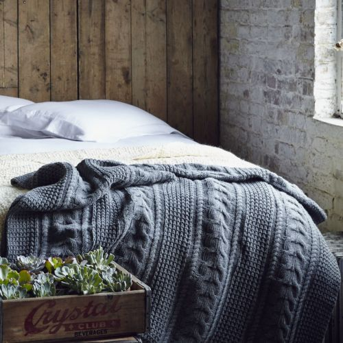 Soak and Sleep - Moss Stitch Cotton Throw