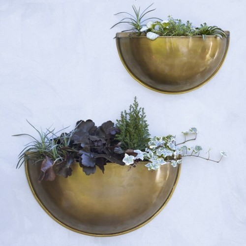 Rowen & Wren, Sola brass wall planter