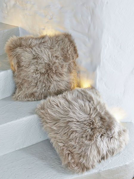 Sheepskin Cushions In Caramel From Nordic House