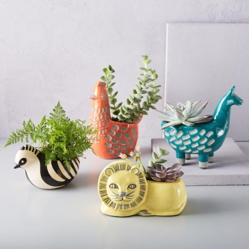Ceramic Animal Planters from West Elm