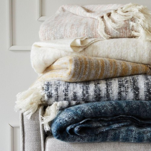 Cosiest Space-Dyed Throws from West Elm