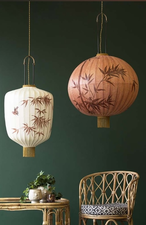 Traditional Japanese Lantern Ceiling Lights From Rockett St George