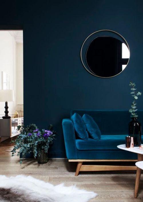 dfe92905c6d58 Blue Monochromatic Room from Domino via Pinterest